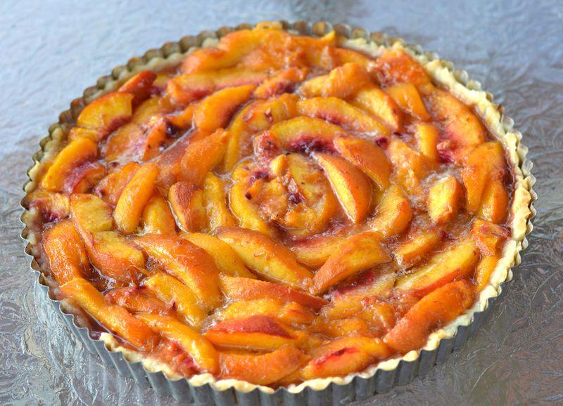 Peach nectarine tart