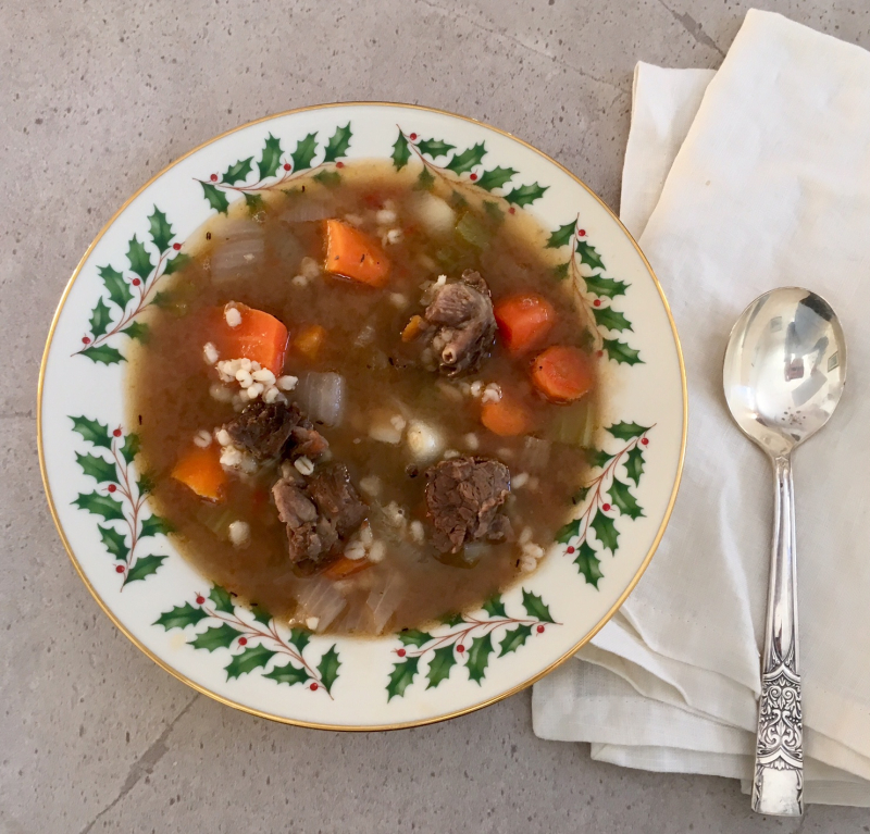 beef barley soup photo