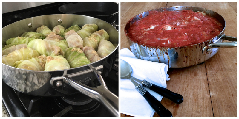 Cabbage rolls, galumbki, stuffed cabbage