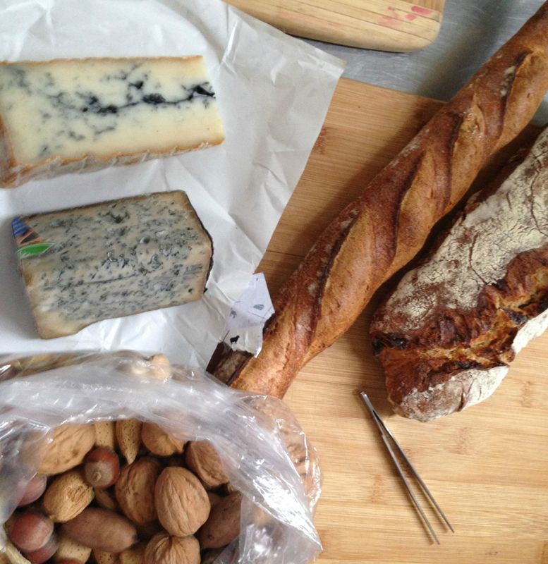 Cheese board and Baguettes