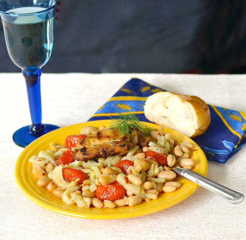 Cannellini beans & chicken