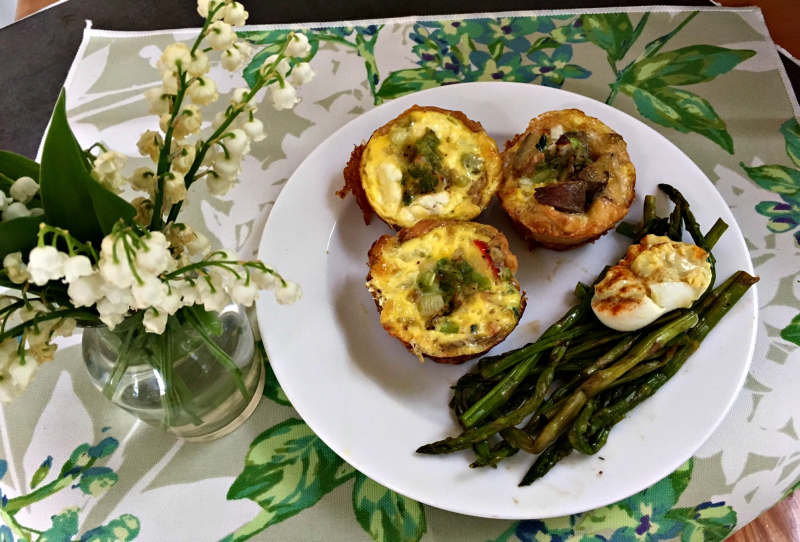 mini-quiches for mothers day