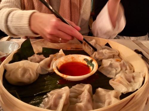 Dumplings chopsticks