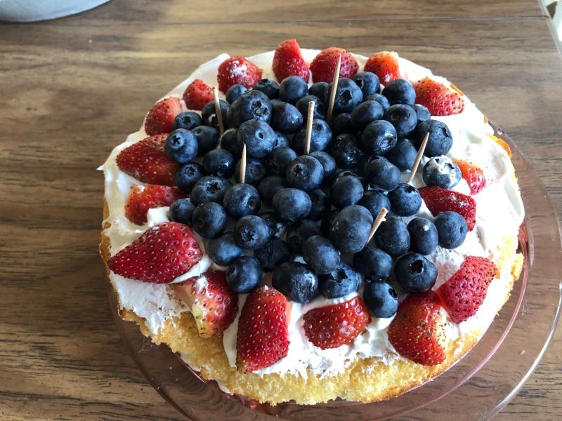 Blueberry torte 1-7-21